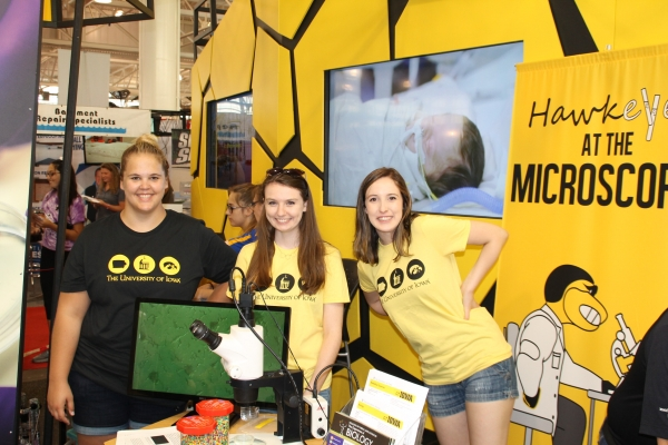 Hawkeyes at the Microscope