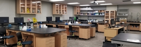 An image of the new Neurobiology and Cell Biology Laboratory