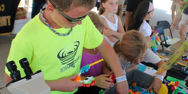 Children at the Iowa City Fall Fun Festival at Regina High School in Iowa City, IA.